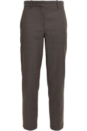 THEORY Cropped jacquard tapered pants