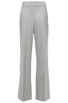 THEORY Talbert mélange wool-blend flannel wide-leg pants