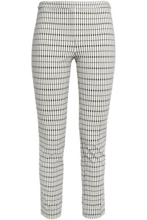 THEORY Checked twill skinny pants
