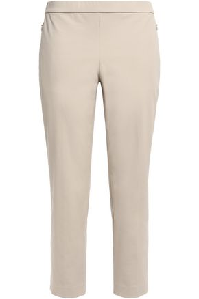 THEORY Cotton-blend twill tapered pants