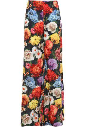 ALICE + OLIVIA Blooming Fields woven wide-leg pants