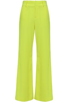ALICE + OLIVIA Neon crepe wide-leg pants