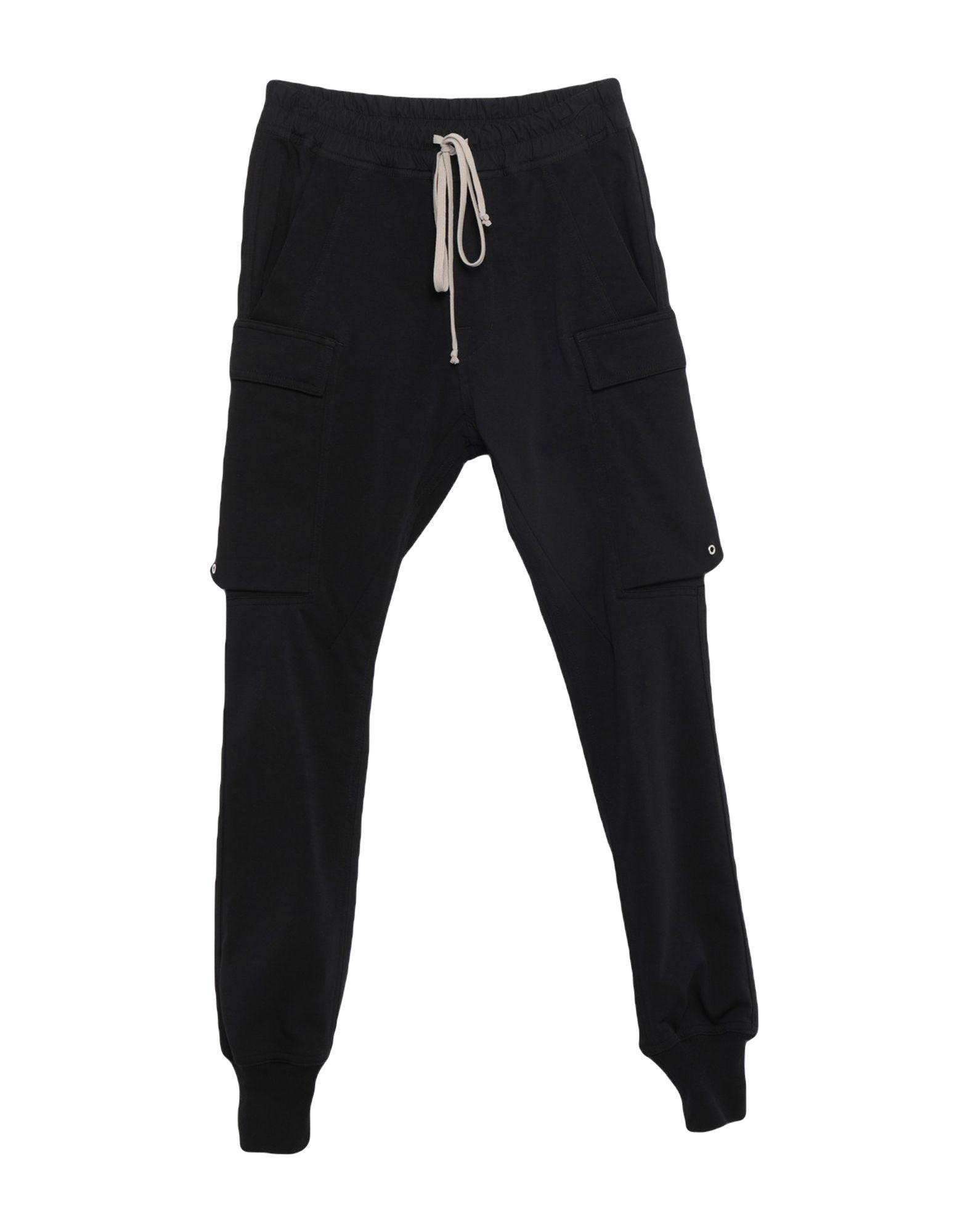 《セール開催中》RICK OWENS メンズ パンツ ブラック 50 コットン 100%
