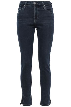AG JEANS Cropped high-rise skinny jeans