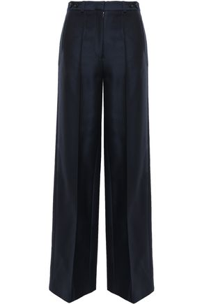 ROKH Belted wool-blend wide-leg pants