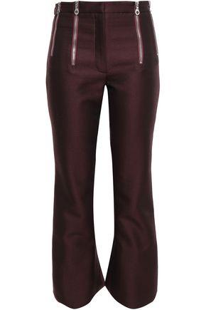 ROKH Zip-detailed wool-blend kick-flare pants