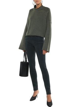 J Brand Woman 485 Tencel-Blend Skinny Pants Blue