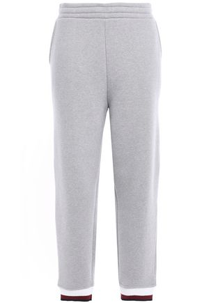 ALEXANDERWANG.T Mélange cotton-blend fleece track pants