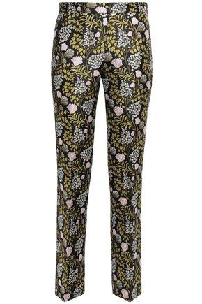 GIAMBATTISTA VALLI Floral-jacquard straight-leg pants