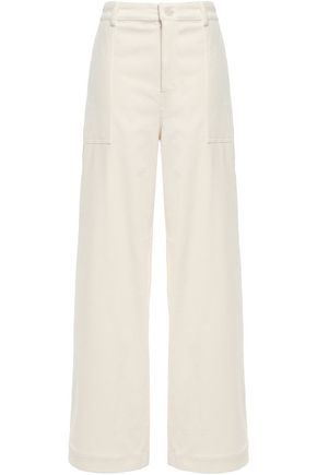 GANNI Stretch-cotton corduroy wide-leg pants