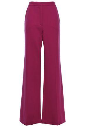 LELA ROSE Maggie wool-blend crepe flared pants