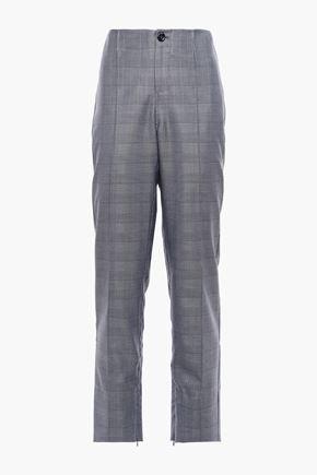 GANNI シルク&ウール混 ストレートレッグ パンツ