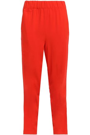 GANNI Clark stretch-crepe tapered pants