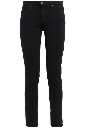 AG JEANS Cropped low-rise skinny jeans