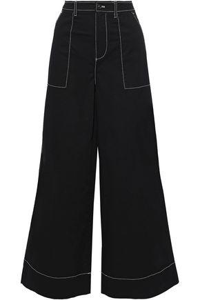 GANNI Hewson cotton-blend wide-leg pants
