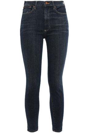 ALICE + OLIVIA Cropped high-rise skinny jeans