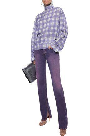 Ganni Mid-rise Straight-leg Jeans In Purple