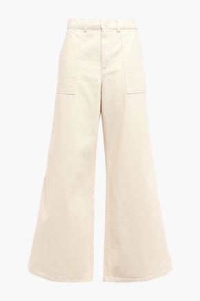 GANNI Bluebell high-rise wide-leg jeans