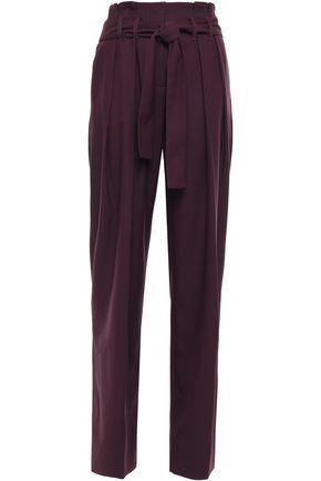 VICTORIA, VICTORIA BECKHAM Wool-blend piqué wide-leg pants