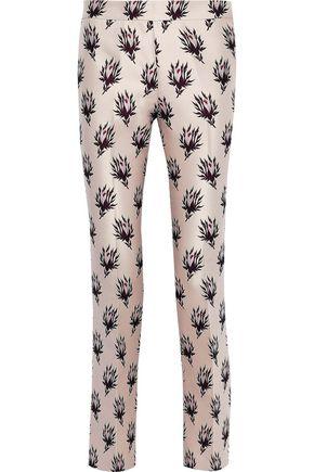 GIAMBATTISTA VALLI Floral-jacquard slim-leg pants