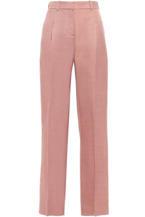 ESTEBAN CORTAZAR Pleated twill straight-leg pants