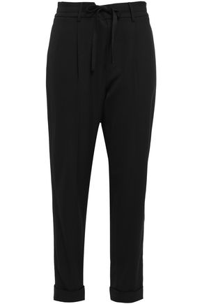 VINCE. Cropped stretch-crepe tapered pants