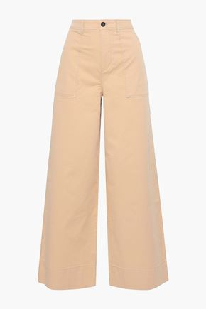GANNI Hewson cotton-blend wide-leg pants