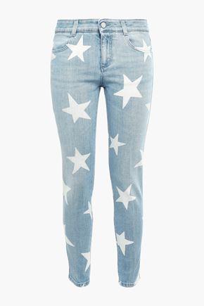 STELLA McCARTNEY Printed low-rise skinny jeans