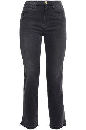 FRAME Stratton high-rise straight-leg jeans