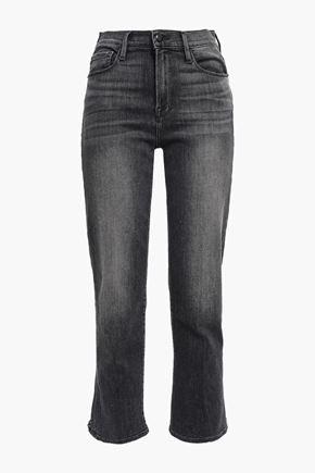 FRAME Walters cutout high-rise straight-leg jeans