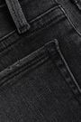 FRAME Le Nouveau Straight cropped frayed high-rise straight-leg jeans