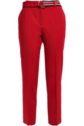 CLAUDIE PIERLOT Pamela belted twill tapered pants