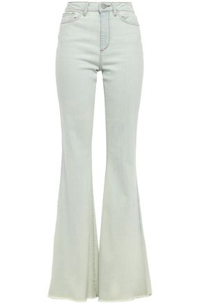 DL1961 Frayed high-rise flared jeans