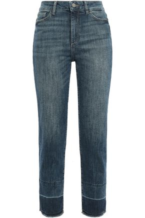 DL1961 Santori high-rise straight-leg jeans