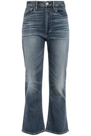 3x1 Empire faded high-rise kick-flare jeans
