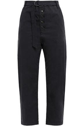 3x1 Vic cropped stretch-cotton straight-leg pants