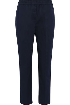 THEORY Cropped stretch-cotton twill slim-leg pants