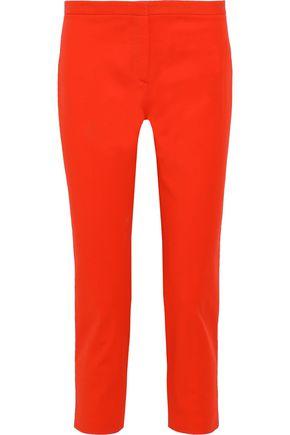 THEORY Cropped cotton-blend cady slim-leg pants