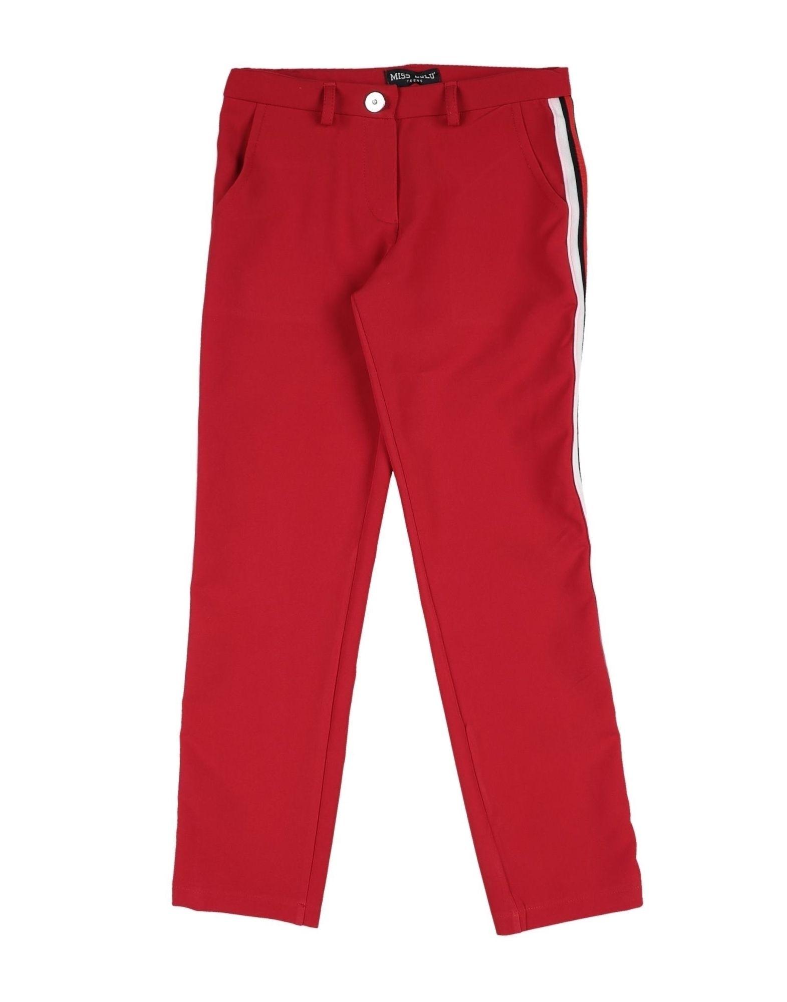 Miss Lulù Kids' Casual Pants In Red