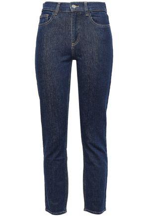 CLAUDIE PIERLOT Cropped mid-rise slim-leg jeans