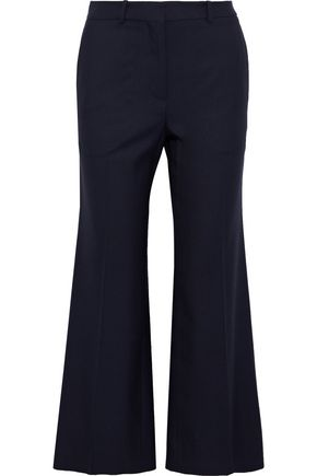 VICTORIA BECKHAM Cropped wool-twill flared pants