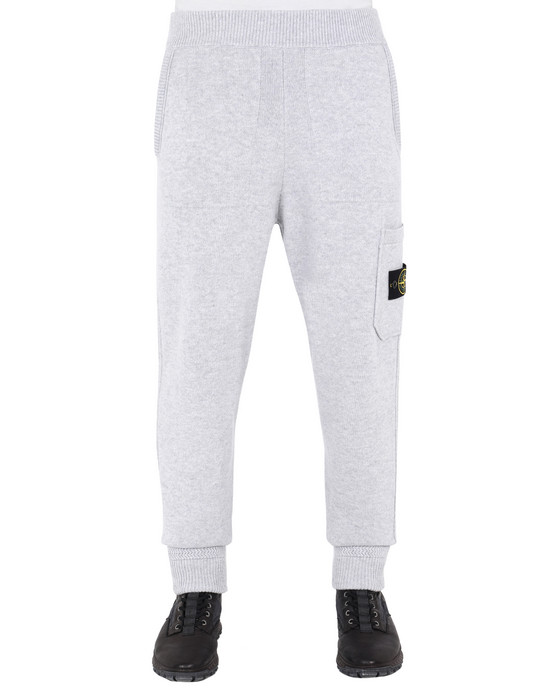 STONE ISLAND 558A7 KNIT TROUSERS Man Pearl Grey