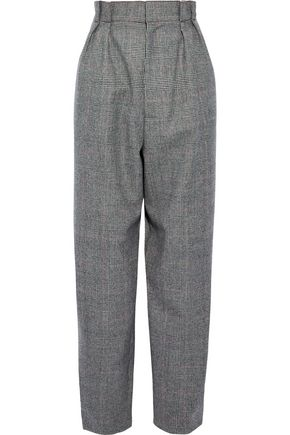 ROLAND MOURET Henson Prince of Wales checked wool tapered pants