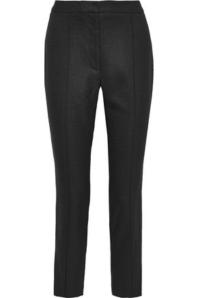 ADAM LIPPES Cropped canvas slim-leg pants