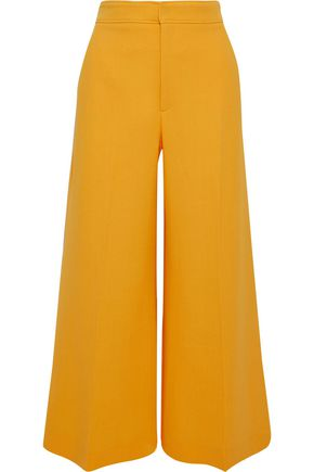 ROLAND MOURET Costello cropped wool-crepe wide-leg pants