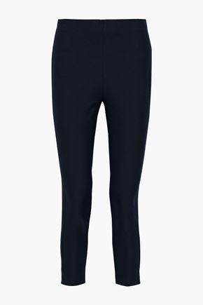 DEREK LAM 10 CROSBY Sullivan cropped stretch-cotton twill slim-leg pants