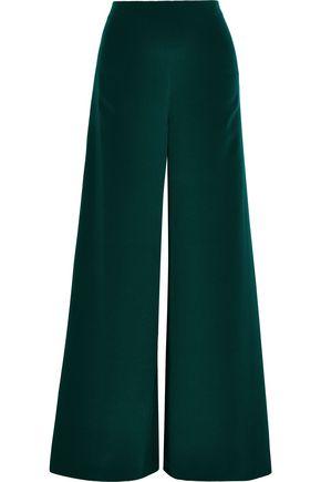 ADAM LIPPES Silk-crepe wide-leg pants