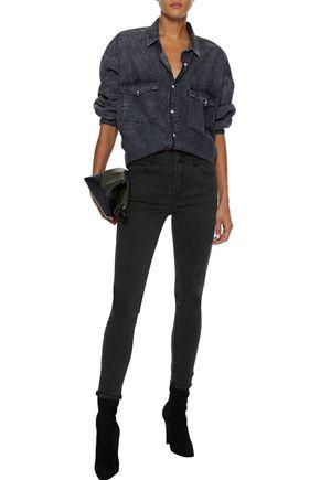 J Brand Woman Alana Cropped High-Rise Skinny Jeans Black