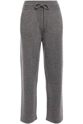 AGNONA Mélange cashmere-blend track pants