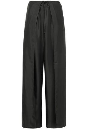 FILIPPA K Lulu wrap-effect silk-twill wide-leg pants